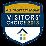 2013年所有物业访客的选择