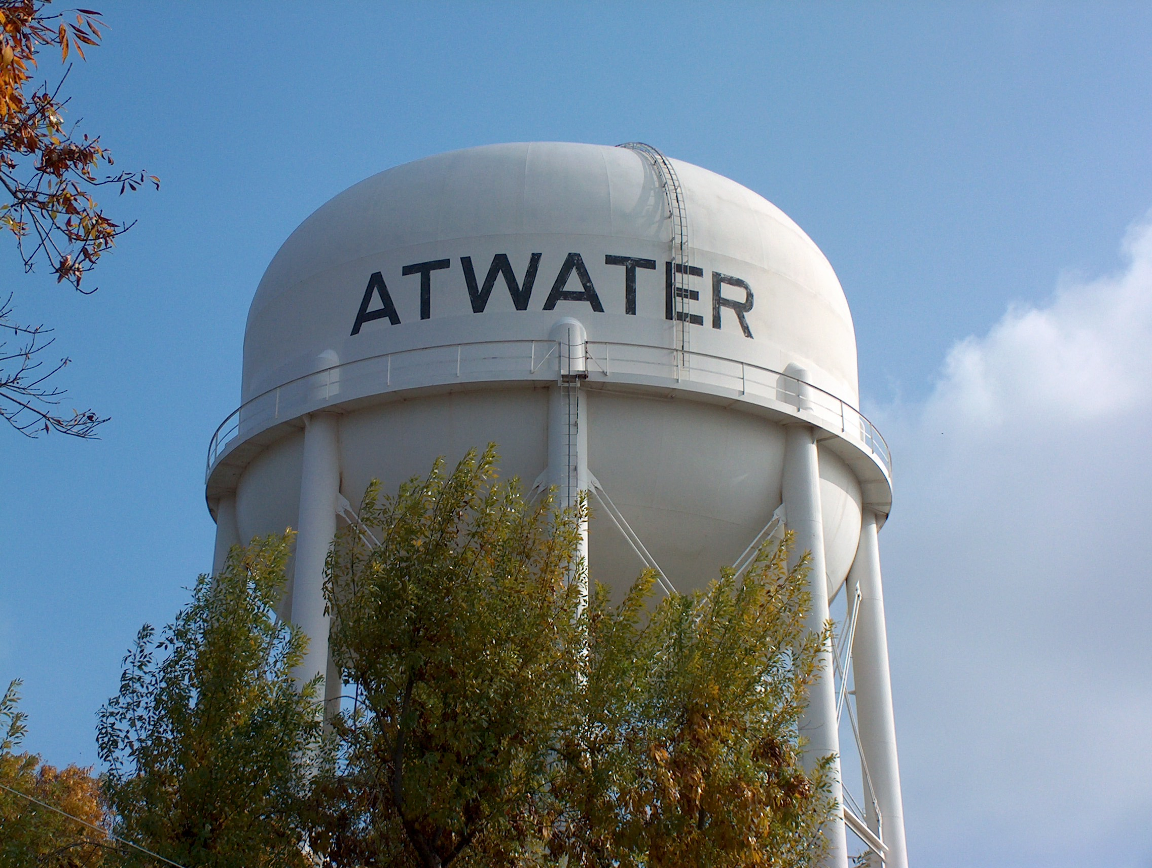 water tower in atwater