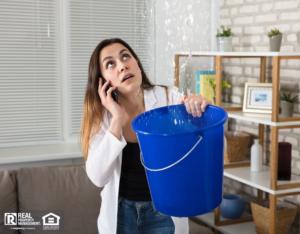 Woman Calling Landlord For Water Leak