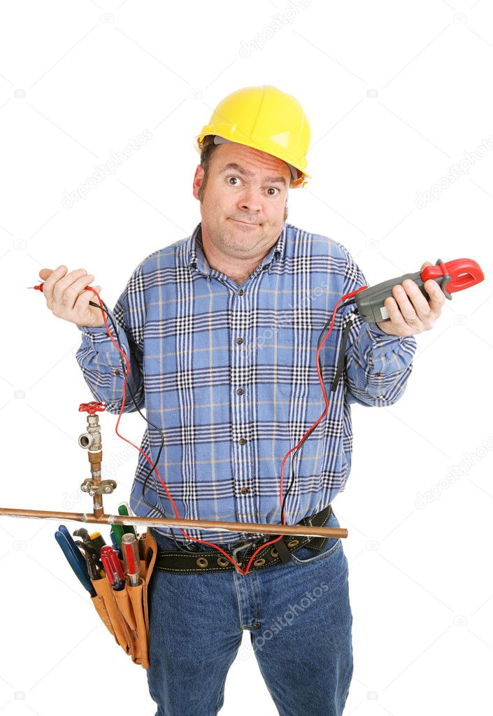 A Shady Contractor Looking Lost and Confused