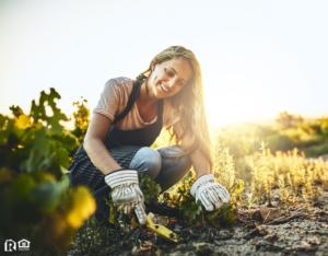Rolling Meadows Woman Gardening in Her Backyard