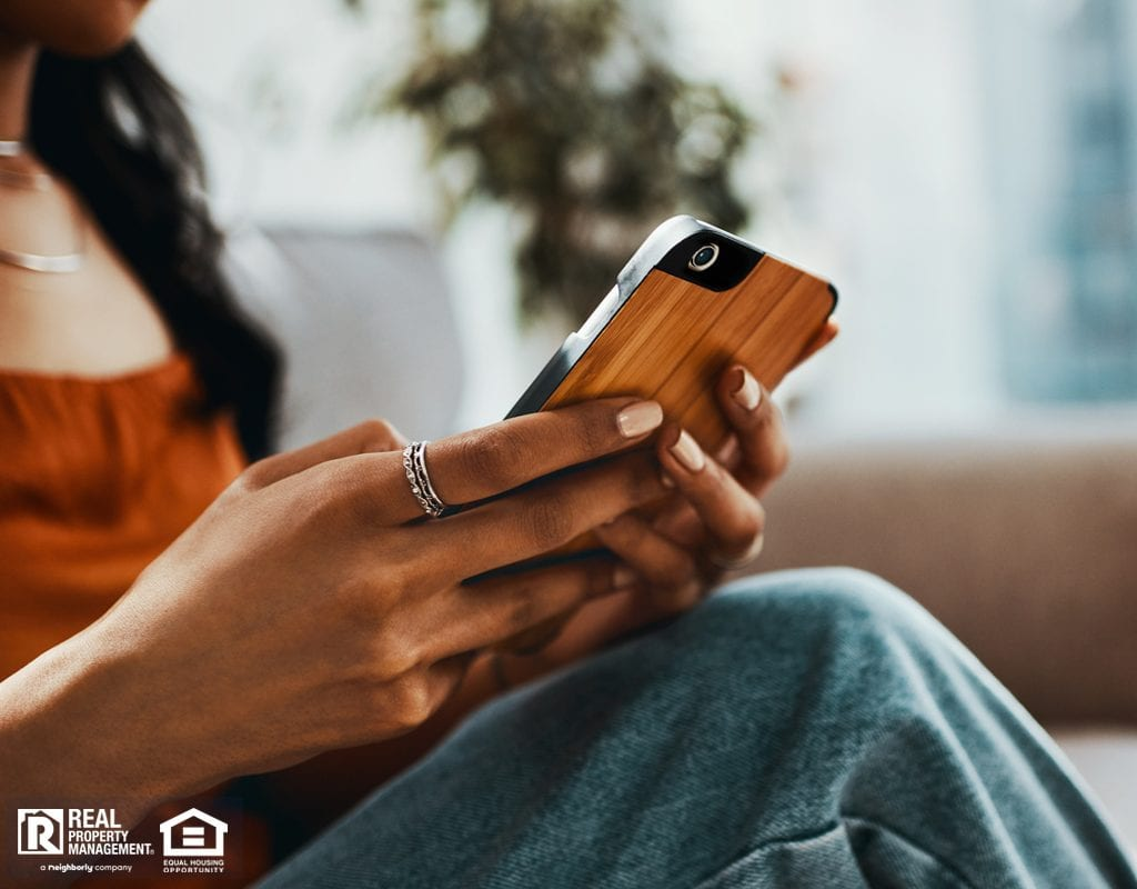Tenant Texting Landlord in Her Mundelein Home