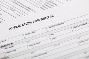 Close Up View of a Owasso Rental Property Application