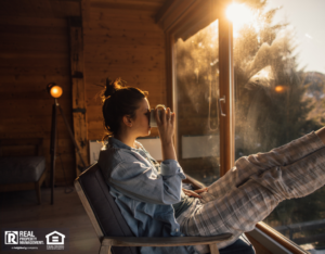 Woman Enjoying Her Stay at a Bixby Vacation Rental
