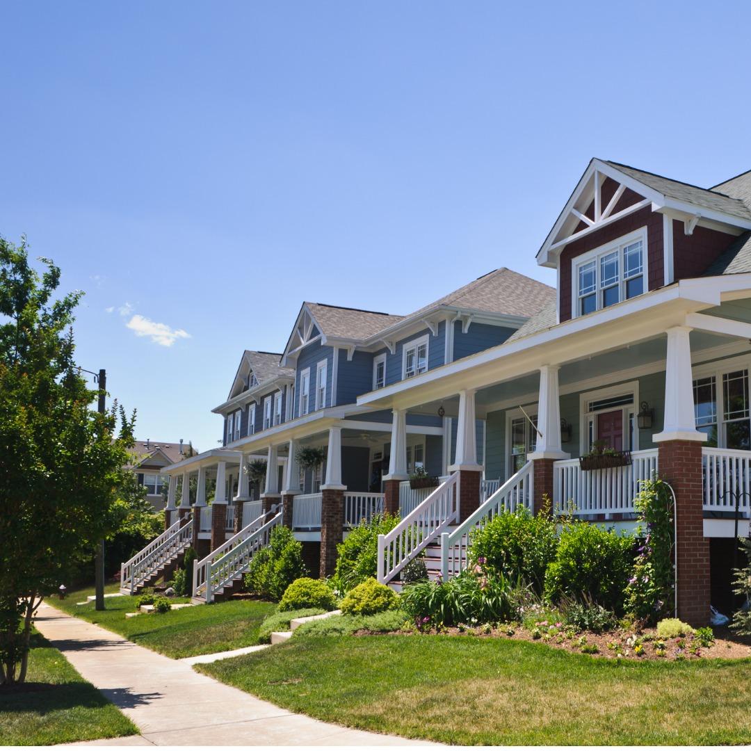 Suburban neighborhood in North Carolina