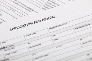 Close Up View of a Winston-Salem Rental Property Application