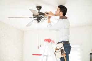 Handyman Installing a Ceiling Fan in Greensboro