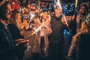 Yorktown Tenants Having Fun with Fireworks on New Year's Eve