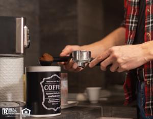 Yorktown Tenant Making Coffee