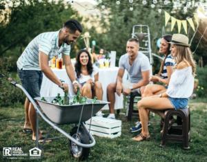 Outdoor Gathering in Newport News Yard
