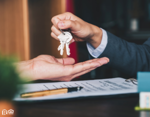 Palmdale Investor Being Handed a Set of Keys