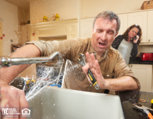 Landlord getting sprayed after trying to repair plumbing issue himself