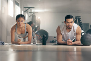 Tenants Exercising in their Pasco Rental Fitness Center