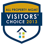 2013 All Property Management's Visitors' Choice