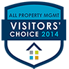 2014 All Property Management's Visitors' Choice