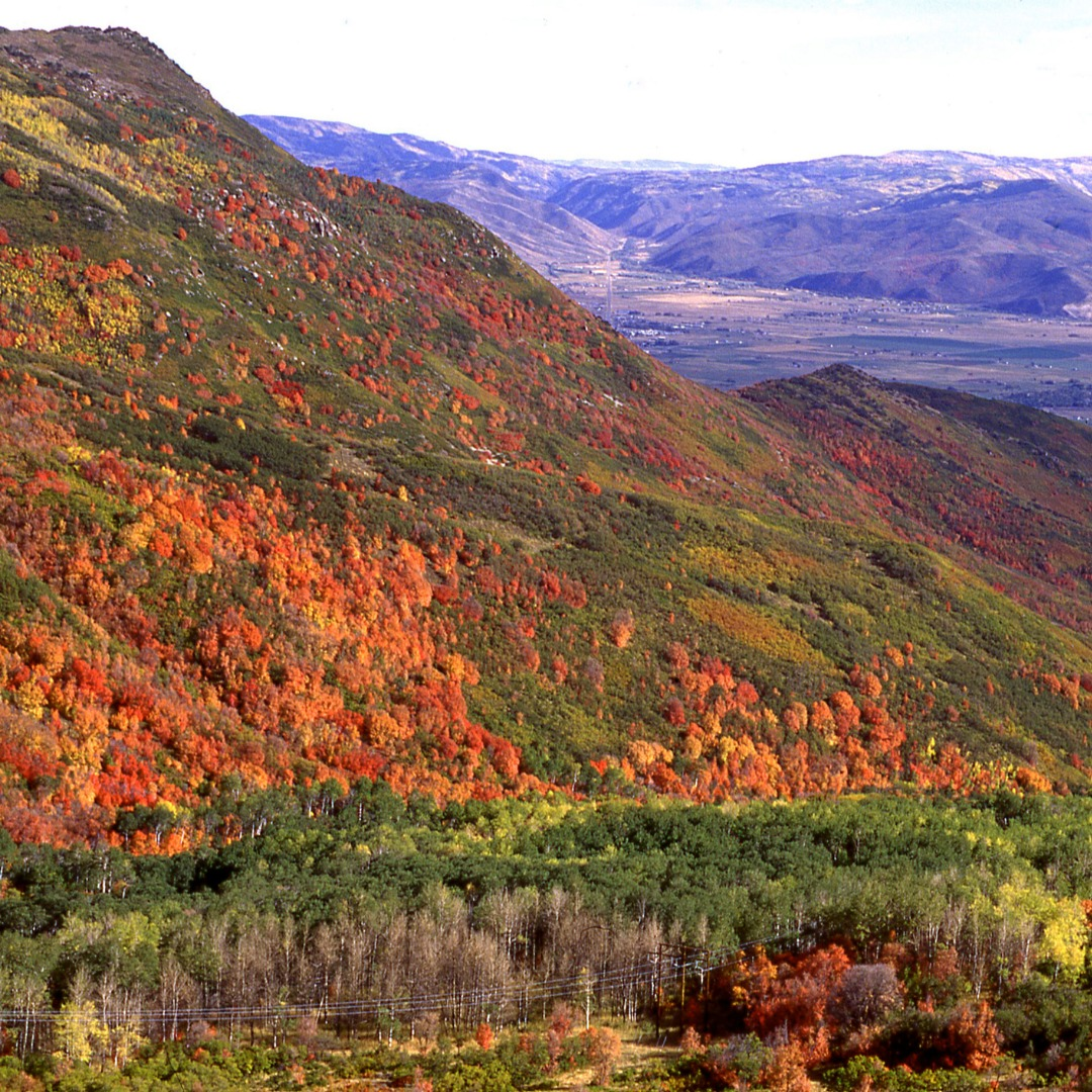 Cache Valley mountains in the autumn