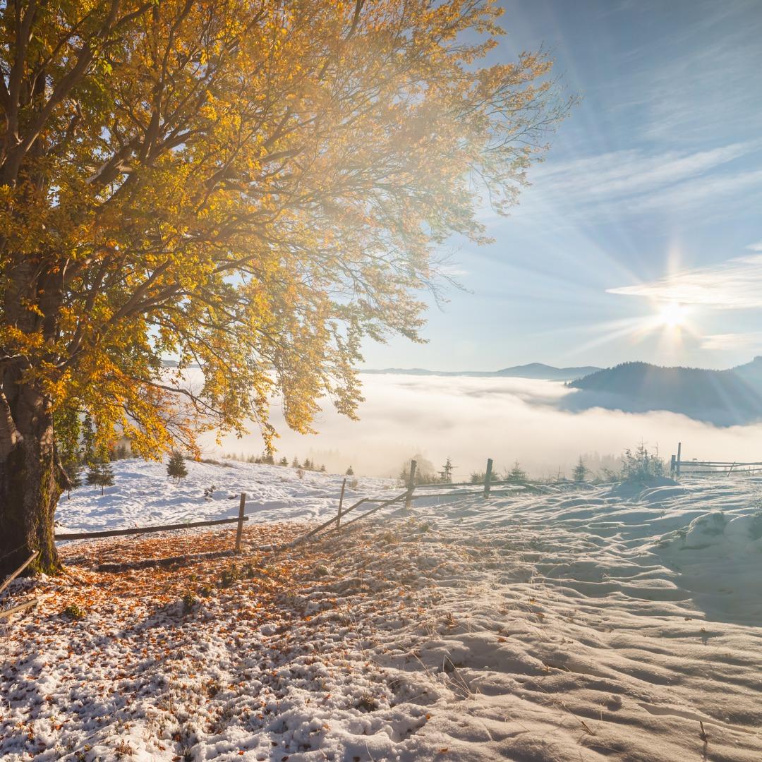 Blackfoot, Idaho, snow in autumn
