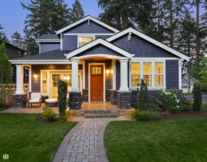 Chubbuck Home Exterior View at Dusk