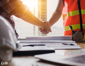 Airway Heights Contractor and Property Owner Shaking Hands