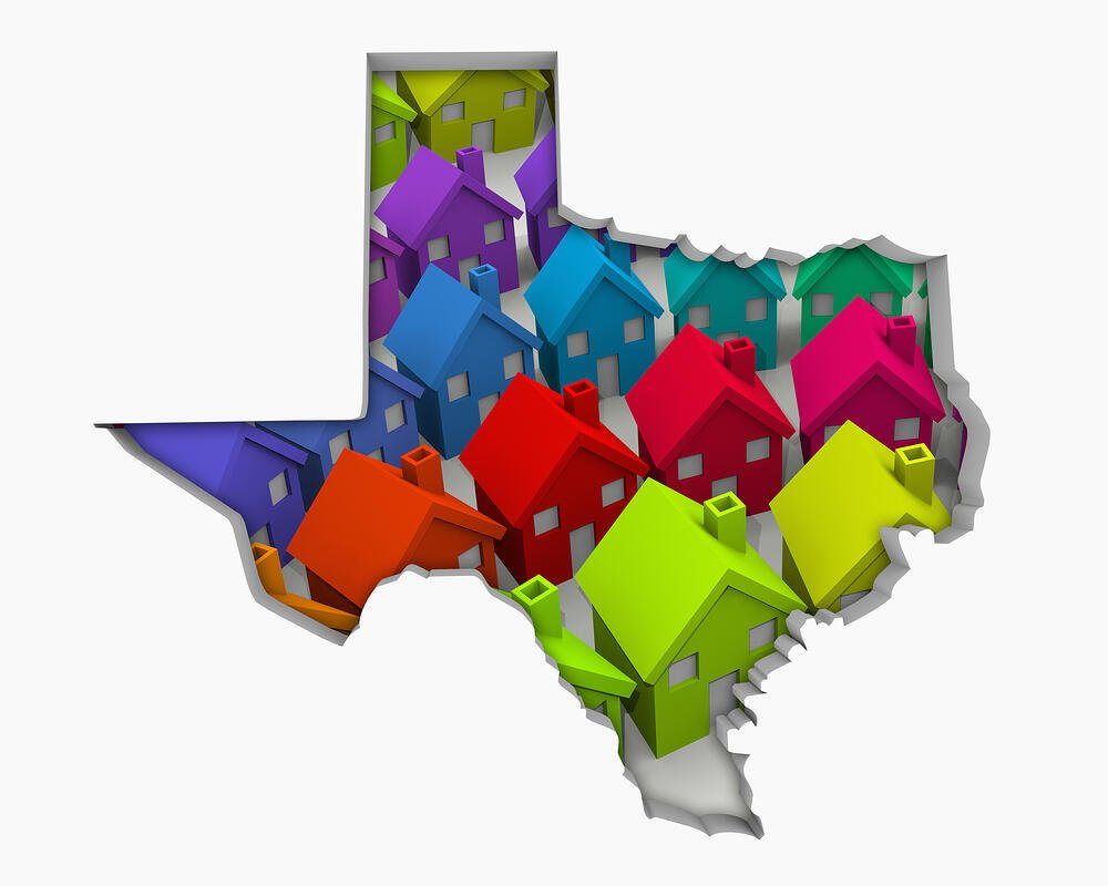 Texas TX Homes Homes Map