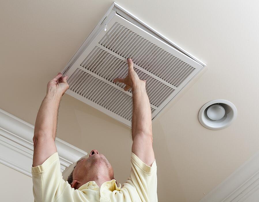 checking air ducts HVAC maintenance