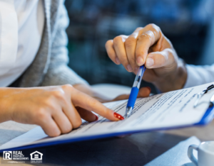Landlord and Tenant Discussing Lease Agreement