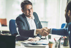 Melbourne Investor Shaking Hands with a Business Partner