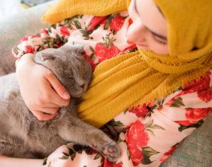 Merritt Island Tenant Holding Her Cat
