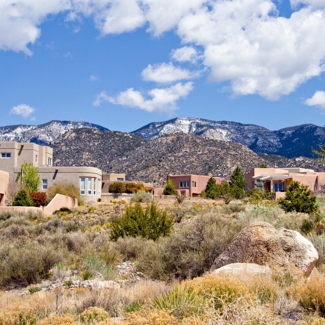 Adobe home in Albuquerque, New Mexico