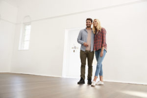Couple Taking Self-Guided Property Tour in Decatur