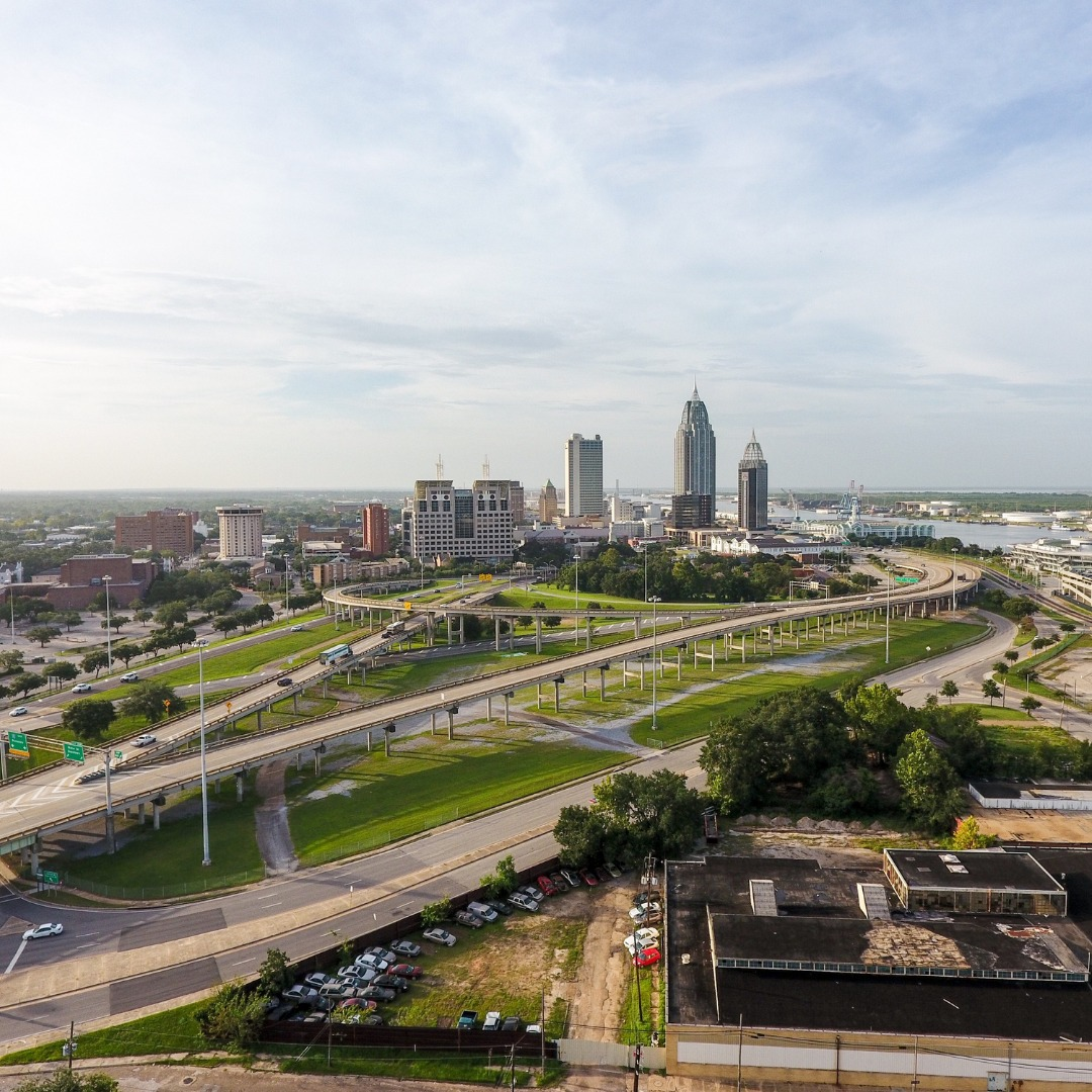 Downtown Mobile, Alabama, skyline