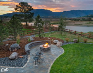 A Newly Landscaped Backyard in a Mobile Rental Property