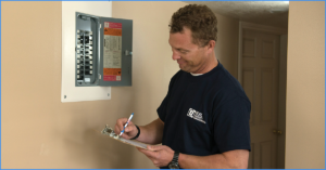 Property Manager Checking the Electrical Wiring in Your New London Rental Property