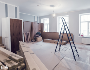 Newington House in the Midst of Remodeling Construction