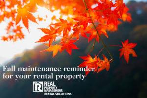 fall maintenance RPM Rental Solutions