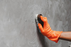 Scrubbing a Wall in a Hollywood Rental Property