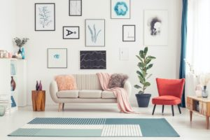 Colorful Living Room in Pompano Beach Rental Home