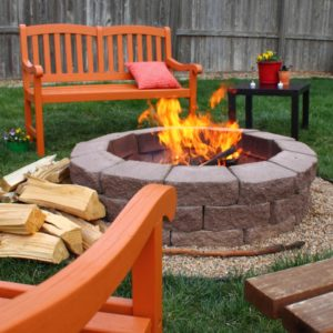A Nice Little Fire Pit in the Backyard of your Pillager Rental Property