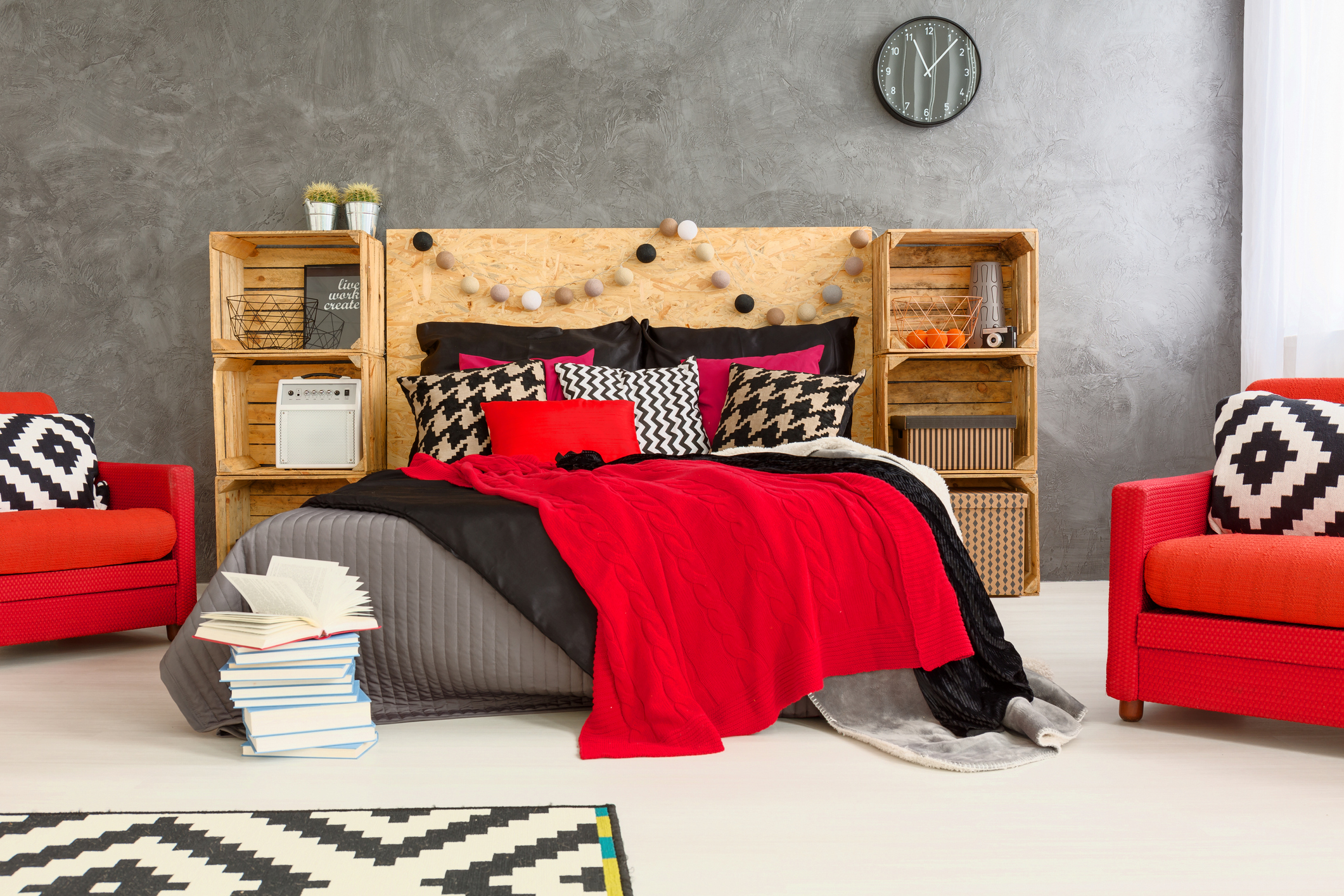 View of a Modern and Creative Bedroom