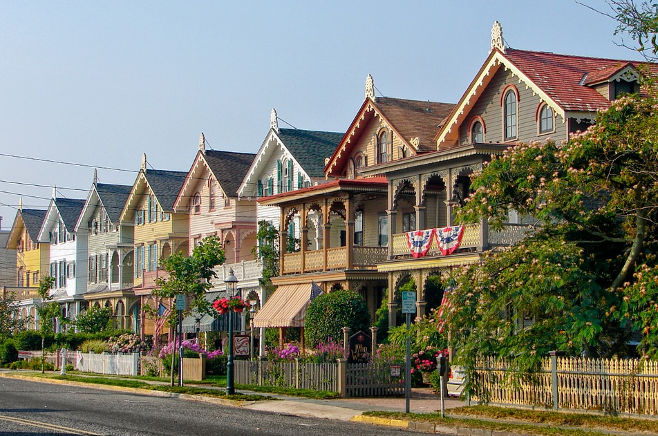 A Row of Beautiful Homes in a Row in New Jersey