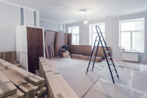 Branchburg House in the Midst of Remodeling Construction