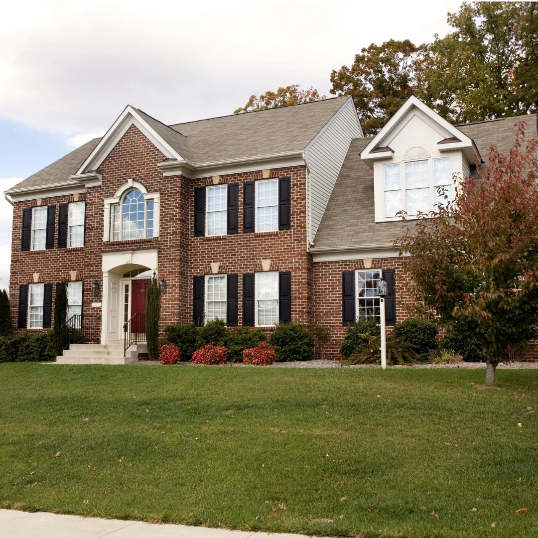 Red brick luxury home in Virginia