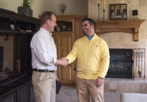 Arcadia Resident and Landlord Happily Shaking Hands