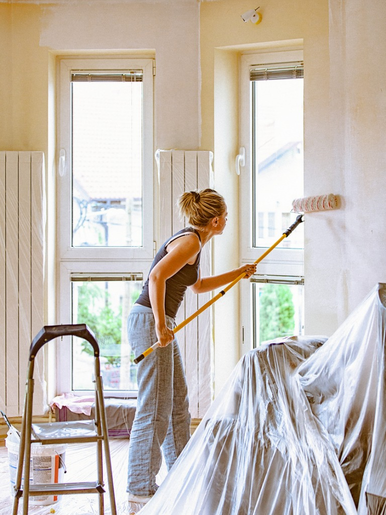San Gabriel Rental Home Interiors Being Repainted by a Resident