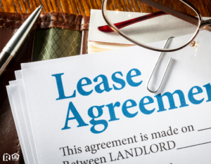 Lease Agreement Laid Out on a Desk