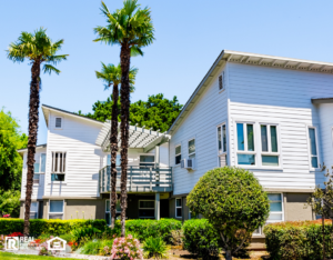 Rentals in California with Palm Trees in Front