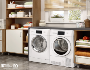 Cute and Organized Laundry Room in Muskegon Rental Home