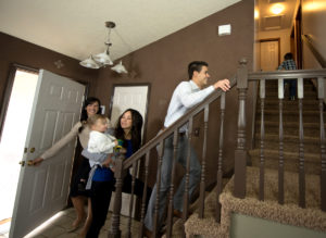 Property Manager Showing Residents Around the Raleigh Rental Property