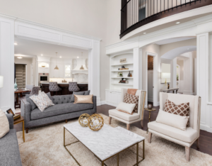 Apex Rental Property with a Beautifully Designed Living Room