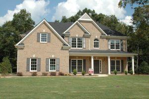 suburban home with nice yard